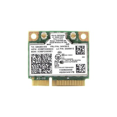Lenovo純正 04W3815 20200412 Intel Centrino Wireless-N 7260 Single Band 802.11b/g/n 300Mbps PCIe Mini...