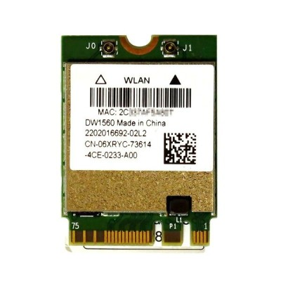 BCM94352Z BCM4352 Dell Wireless 1560 (DW1560) 867Mbps 802.11a/b/g/n/ac WLAN + Bluetooth 4.0 M.2...