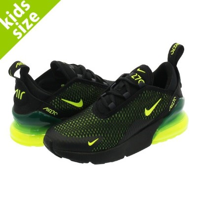 【キッズサイズ】【16-22cm】 NIKE AIR MAX 270 PS ナイキ エア マックス 270 PS BLACK/VOLT/BLACK/OIL GREY ao2372-011