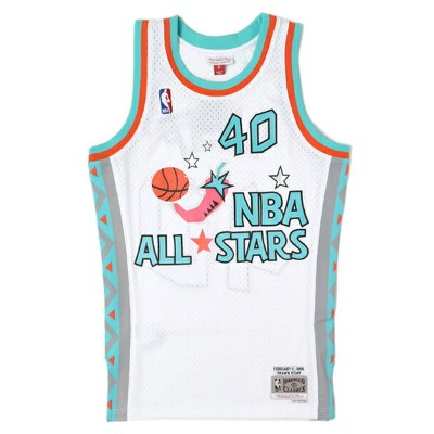 【送料無料】MITCHELL & NESS SWINGMAN JERSEY ALL-STAR WEST 96 #40 S.K【BA84K2ASWWC0L-WHITE】