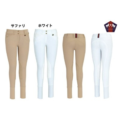 【Equine Couture/エクイチュール】【レディース/LADIES】 キュロット【膝革】ロゴ入り 乗馬用キュロット/BLEACHS