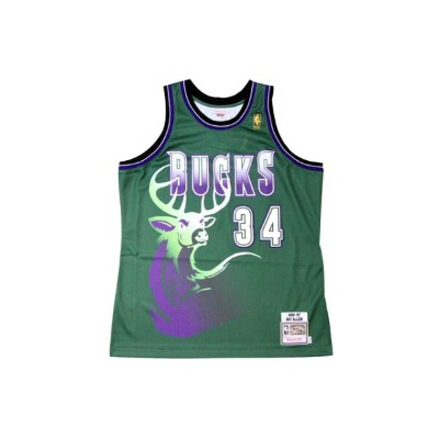 ●MITCHELL&NESS AUTHENTIC THROWBACK JERSEY (NBA/MILWAUKEE BUCKS/96-97/RAY ALLEN: GREEN)ミッチェル&ネス...