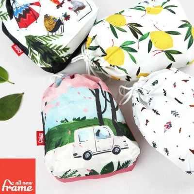 All New Frame String Pouch Collection A - Small トラベルポーチ かわいい トラベルバッグ 旅行ポーチ 収納ポーチ オムツポーチ ベビー用品 化粧ポーチ...