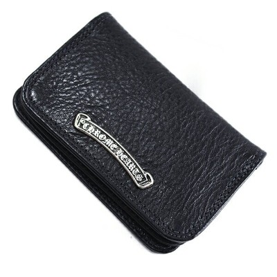CHROME HEARTS(クロムハーツ) カードケース#2 ブラックヘビーレザー Wallet Card Case #2 Black Heavy Leather l chromehearts...
