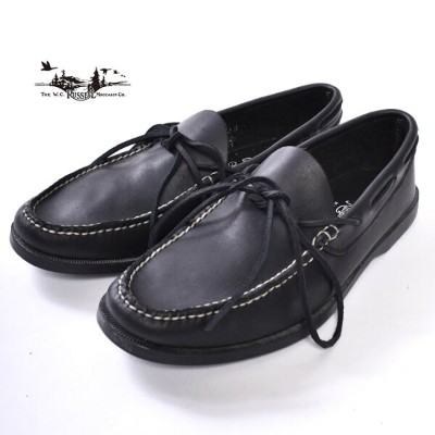 Made in USA【RUSSEEL MOCCASIN】ラッセルモカシンCAMP MOCCASIN キャンプモカシンCOW LEATHERBLACK ブラック