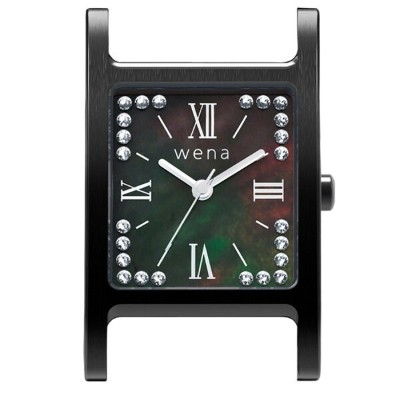 wena wrist Three Hands Square Premium Black -Crystal Edition- Headソニー Sony スマートウォッチ IoT iOS Android...