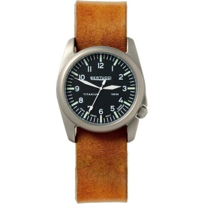 ベルトゥッチ メンズ 腕時計【A - 4T Aero Leather Watch】Black Dial/Vintage Brown With Post Screws