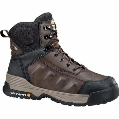 "カーハート レインシューズ・長靴 CMA6346 6"" Waterproof Work Boot Composite Toe Dark Brown Leather"