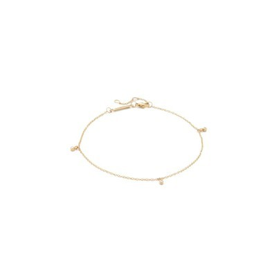 ゾーイ チコ アンクレット 14k Gold Dangling Diamond Anklet Gold/Clear