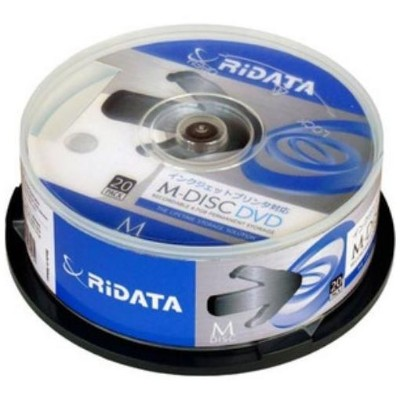 RiDATA M-DVD4.7GB.PW20SP M-DISC DVD 4.7GB 4倍速 20枚スピンドルケース