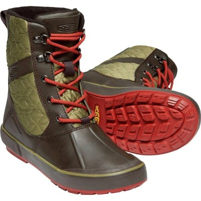 【vic2セール】 キーン KEEN Womens Belleterre Boot Quilted WP Mulch/Martini Olive [ベレテアブーツキルティング][スノーブーツ][防水...