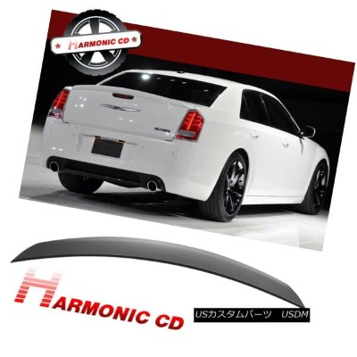 エアロパーツ Fits 2011-2018 Chrysler 300 300C 4Dr Matte Black ABS Rear Trunk Spoiler Wing 適合2011...