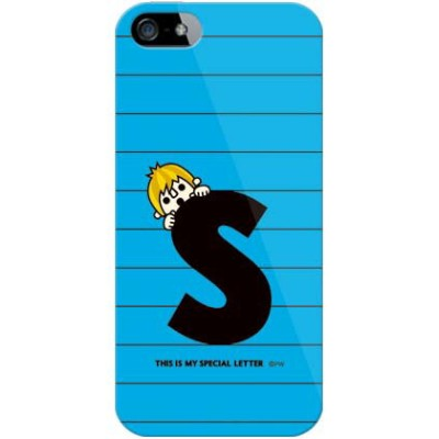 【送料無料】 letter&boy ブルー S (クリア) design by PansonWorks / for iPhone SE/5/au 【SECOND SKIN】【スマホケース】...