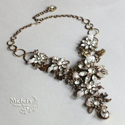 Michel's Vintage Beads Neckrace Romancing the Stone ヴィンテージビーズネックレス ロマンシングストーン