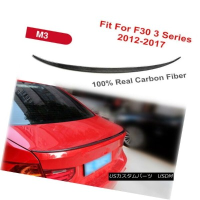 エアロパーツ CARBON FIBER LIP TRUNK REAR SPOILER FIT FOR BMW F30 3 SERIES 2012-2017 M3 TYPE カーボンファイバーリップトラ...