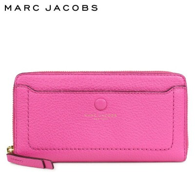 MARC JACOBS LEATHER VERTICAL ZIP-AROUND WALLET マークジェイコブス 財布 長財布 レディース ラウンドファスナー レザー ピンク M0013948 [1...