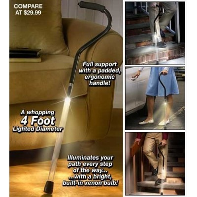 Pathlighter Lighted Safety Cane by Handy Trend