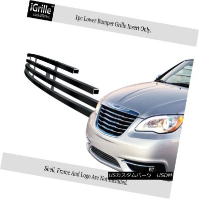 USグリル Fits 2011-2014 Chrysler 200 Stainless Steel Lower Bumper Billet Grille 2011?2014年のクライスラー200ステン...