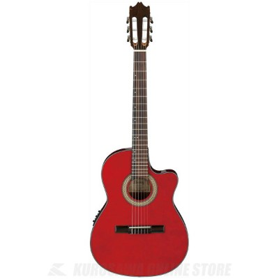 Ibanez GA30TCE-TRD (Transparent Red) (クラシックギター/エレガット)(送料無料)
