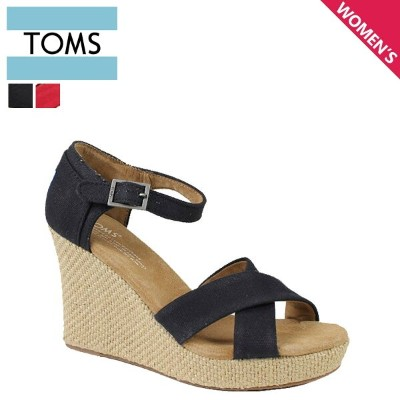 TOMS レディース トムス シューズ サンダル toms shoes トムズ CANVAS WOMEN'S STRAPPY WEDGES トムズシューズ