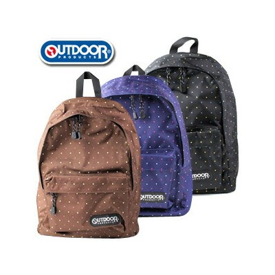 OUTDOOR PRODUCTS アウトドアプロダクツ ドット柄 デイバッグ OUT129 リュック バッグ デイバッグ
