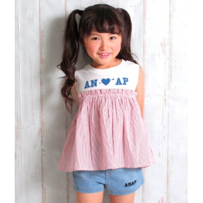 f8114a7399e40  40%OFF ストライプドッキングトップス アナップキッズ ANAP KIDS キッズ トップス キッズ