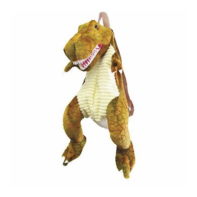 T-REX リュックサック(PLUSH BACK PACK T-REX BROWN) 【 雑貨 アニマル雑貨 恐竜 日用雑貨 お出かけ バッグ 子ども プレゼント クリスマス 誕生日 遠足 動物園...