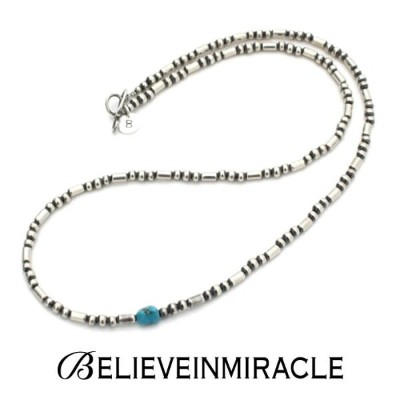 BELIEVEINMIRACLE,ビリーブインミラクル,SILVER BZ NECKLACE,シルバービーズネックレス,ブレスレット,2WAY ,silver 925,ターコイズ,通販