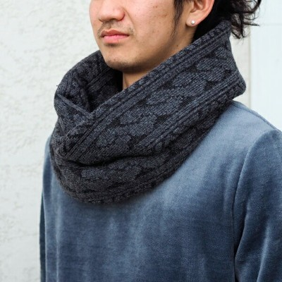 SALE【Iroquois:イロコイ】885501Iroquois×SynapseJACQUARD AIR CABLE WOOL SNOOD[リミテッドジャガードエアーケーブルウールスヌード]...