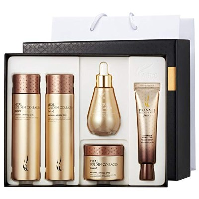 A.H.C Vital Golden Collagen Special Skin Care Set +Shopping Bag バイタルゴールデンコラーゲンフェイスケアセット トナー/ローション...