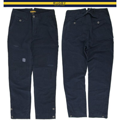 RUGBY by Ralph Lauren Naval Patchwork Chino Pants ラルフローレン ラグビー リペア加工 チノパンツ
