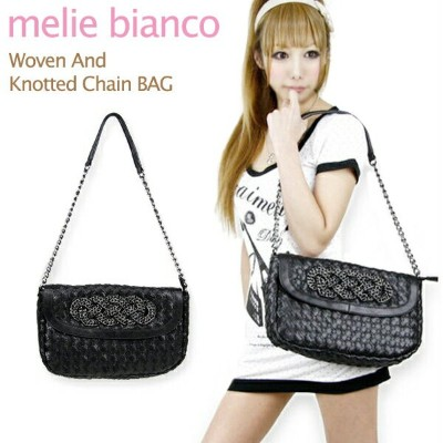 melie bianco Woven And Knotted Chain BAG メリービアンコ チェーン ショルダー ハンドバッグ【楽ギフ_包装選択】【r】[CC]