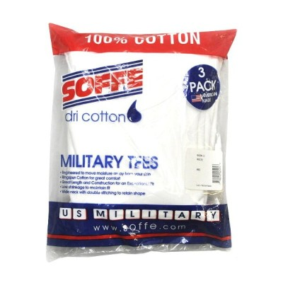 SOFFE(ソフィー)【MADE IN U.S.A.】US MILITARY(米軍ミリタリー) 3PACK T-SHIRTS(アメリカ製 3枚パック 半袖 Tシャツ) WHITE