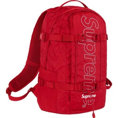 """Supreme Backpack """" Red """" 18FW ( シュプリーム バックパック """" レッド """" 18FW)[国内正規品] (Red)"""