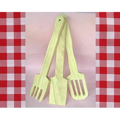 SET 3 PIECES Wooden spatula turners,no harm for your pan, casserole, eco friendly