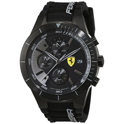 フェラーリ 腕時計 メンズ 0830262 Ferrari Men's 46mm Black Plastic Band & Case Quartz Analog Watch 830262フェラーリ...