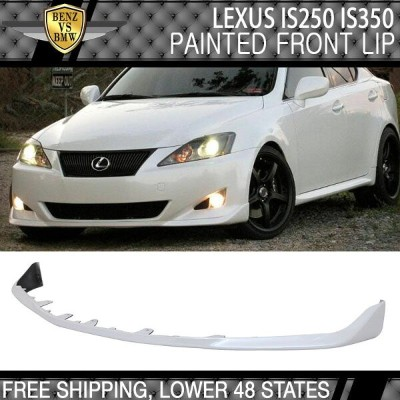 USパーツ 06-08レクサスIS250 IS350 OEスタイル塗装#074氷河フロストマイカフロントリップ 06-08 Lexus IS250 IS350 OE Style Painted ...