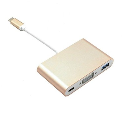 iFormosa USB-C VGA Multiportアダプター ゴールド IF-USBCTOVMU-GD