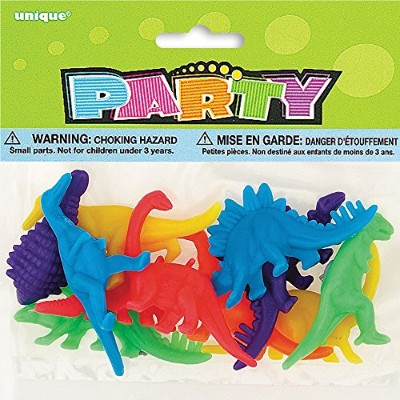 Plastic Dinosaur Party Favour Toys, Assorted 12ct