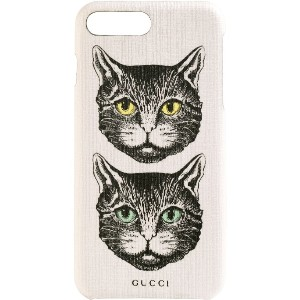 Gucci Mystic Cat iPhone 8 Plus ケース - ホワイト