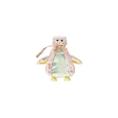Bearington Baby PACIFIER PET Plush Animal with Pacifier Tether and Pouch (Pink Lil Hoot Owl) by...