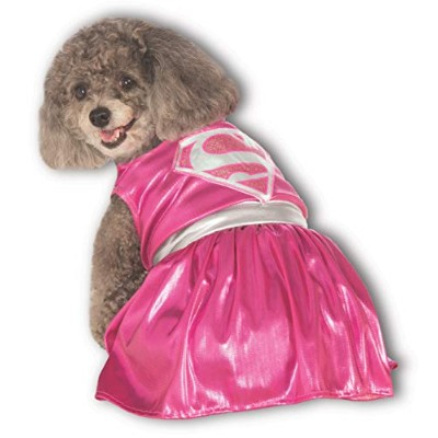 DC Comics Pet Costume, Small, Pink Supergirl by Rubie's