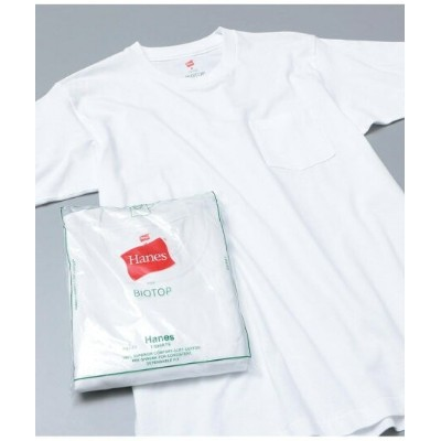 ADAM ET ROPE' HOMME 【Hanes for BIOTOP】2-Pack POCKET T-SHIRTS アダムエロペ カットソー【送料無料】