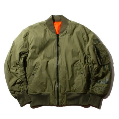NIKE AS M NSW JKT REV WVN AF1(ナイキ REV AF1 ウーブン ジャケット)MEDIUM OLIVE/RUSH ORANGE/MEDIUM OLIVE【メンズ...