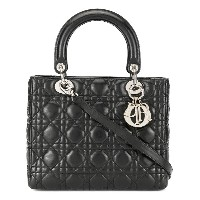 Christian Dior Vintage Lady Dior Cannage 2way bag - ブラック