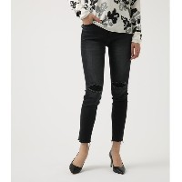 【SALE 50%OFF】【AZUL BY MOUSSY】リペアブラックデニムスキニー BLK