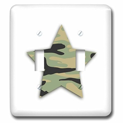 3drose LSP _ 184922_ 2グリーンカモstar-khaki Army Camouflage pattern-military Soldier Double切り替えスイッチ