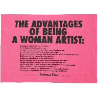 ユニセックス THIRD DRAWER DOWN Advantages of being a woman artist tea towel オブジェ フューシャ