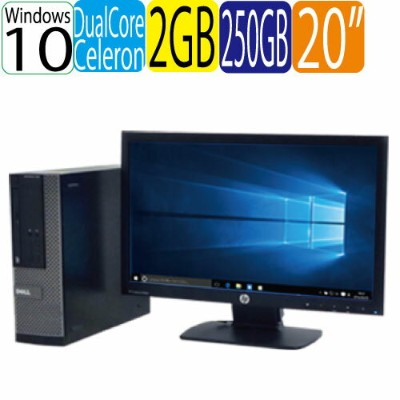 DELL Optiplex 3010SF Celeron Dual Core G1610 (2.6GHz) HDMI メモリ2GB HDD250GB Windows10 Home 64Bit(MAR...