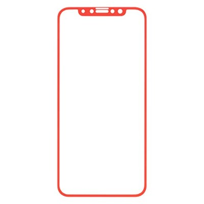 iFace iPhone XS/X ガラスフィルム 保護フィルム 液晶保護シート [レッド]